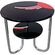 German Art Deco Bauhaus Table 1925 found on Polyvore