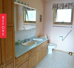 Before & After: A Dated Bathroom Goes Mid-Century