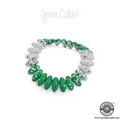 Green Collar! #DeGrisogono #18K #WhiteGold #Choker #Collar #Necklace #Diamonds #Emeralds #Jewelry #Jewellery