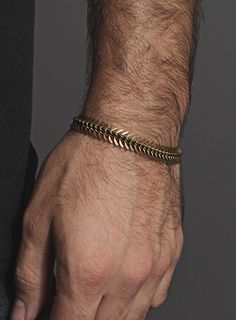 Spine shaped brass bracelet for men and women - Mens' Jewelry - One Size Fits All - Brass bracelet for Men.