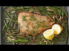 Parmesan Crusted Salmon with Lemon and Veggies   Billy Parisi   The Inspired Home