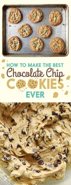 Palmas approved =To Make The Best Chocolate Chip Cookies Ever: Chewy and Crispy, Cakey, Crispy, and Soft Mini Desserts, Just Desserts, Delicious Desserts, Yummy Food, Plated Desserts, Delicious Cookies, Slow Cooker Desserts, Baking Recipes, Cookie Recipes