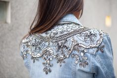 Link doesn't lead anywhere; pinned for inspiration. Gorgeous embellished jacket.