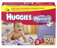 Huggies Little Movers Diapers, Size 3, 128-Count - http://www.intomars.com/huggies-little-movers-size-3-diapers.html