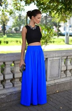Morning Lavender Royal Blue Maxi Skirt - Sunshine & Stilettos Blog ...