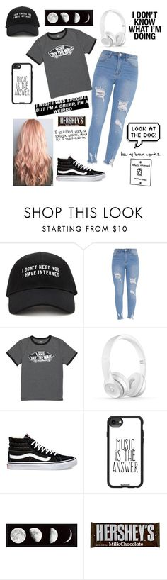 """""""@char-pisces"""" by sashpl ❤ liked on Polyvore featuring Forever 21, Vans, Casetify, Hershey's and Again"""