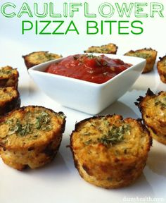 Cauliflower pizza bites (gluten free)