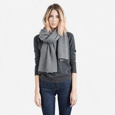 Women's Merino Scarf - Grey – Everlane