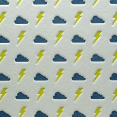 Bolts and Clouds in Yellow/Blue