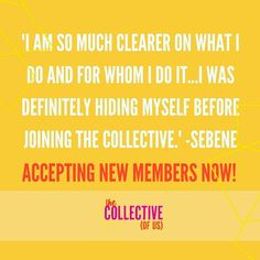 ONLY 4 MORE DAYS TO JOIN US.  I'm highlighting feedback and comments from women in The Collective all week.  If you aren't 1000% crystal clear on your brand and don't quite know who your audience is you want to join us. You'll know how to correct this within our very first strategy call.  The Collective (of Us) is A community for women owned thriving businesses and living BOLDLY. A strategy for growth and a plan to make it happen.  Coaching by yours truly for three full months. Confidence A…