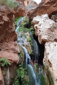 Rock Waterfall, Land Scape, Elves, Grand Canyon, Nature, Travel, Naturaleza, Viajes, Destinations