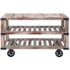 Woodland Imports Woodland Imports Rustic Console Cart