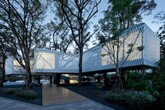 This Stilted Shanghai Office Building is a Bridge Amongst The Trees