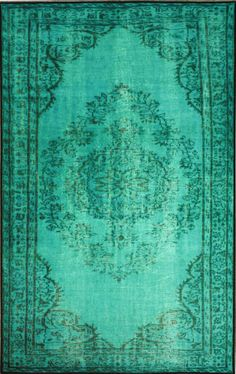 Serendipity Ejecta Turquoise Rug