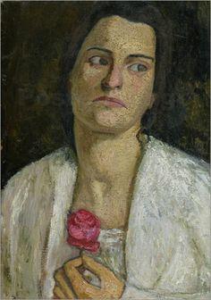 Paula Modersohn-Becker (1876-1907) - The Sculptress Clara Rilke-Westhoff Paula Modersohn Becker, Figure Painting, Painting & Drawing, Ludwig Meidner, Portrait Art, Portraits, George Grosz, Female Painters, Art Japonais