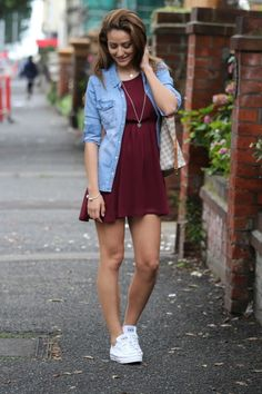 My favorite fashion blogger-Tamara Kalinic BRACELET-OLENA DRESS-H AND M SNEAKERS-CONVERSE SHIRT-H AND M BAG-LOUIS VUITTON NECKLACE-TIFFANY AND CO PEACE NECKLACE-STYLEGODIS http://theglamandglitter.com/