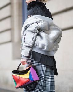 #PFW || #streetstyle LK| #streetfashion #loewebag #bomberjacket #fashionweek | #MCtendenze : Timur Emek  via MARIE CLAIRE ITALIA MAGAZINE OFFICIAL INSTAGRAM - Celebrity  Fashion  Haute Couture  Advertising  Culture  Beauty  Editorial Photography  Magazine Covers  Supermodels  Runway Models