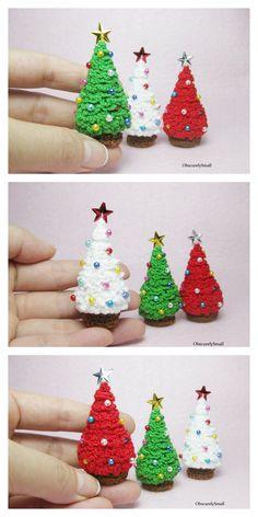 Christmas Tree Pattern, Crochet Christmas Ornaments, Christmas Crochet Patterns, Holiday Crochet, Christmas Crafts, Crochet Amigurumi Free Patterns, Hello Dear, Crocheting, Garland