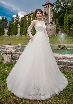 Model M16.16 Popular Wedding Dresses, Designer Wedding Dresses, Bride Dresses, Romanian Wedding, Maya Fashion, The Bride, Wedding Dress Silhouette, Church Wedding, Ball Gowns