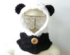Cowl Scarf Crochet Pattern Hooded Scarf por strawberrycouture