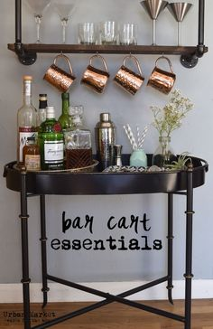 Bar cart essentials. From tools to accessories, everything you need to make a beautiful bar cart.