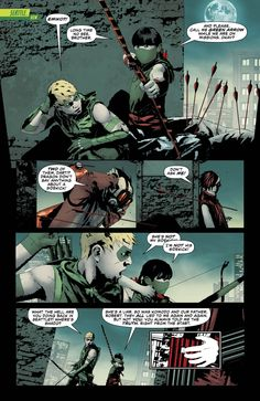 Green Arrow & Emiko - Andrea Sorrentino Dc Comics Art, Green Arrow, Comic Art, Bing Images, Nerd, Dragon, Artist, Movie Posters, Archer