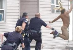 Here comes Peter Cottontail, hopping down the bunny trail, with the cops close behind
