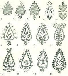 SERCE HEART Patterns of Europe Slavic Design Poland Easter Eggs Wzornictwo Lubelszczyzny na pisankach