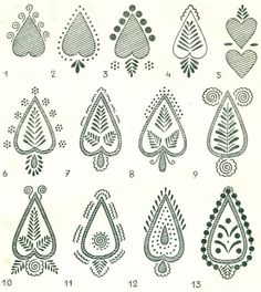 SERCE HEART Patterns of Europe Slavic Design Poland Easter Eggs Wzornictwo Lubelszczyzny na pisankach