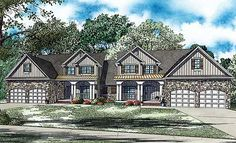 Spacious Duplex Home Plan - 60549ND | 1st Floor Master Suite, Bonus Room, Butler Walk-in Pantry, CAD Available, PDF | Architectural Designs