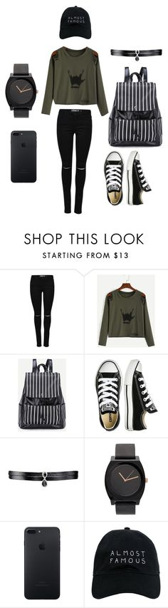 """""""⚓️"""" by gurveenpanesar ❤ liked on Polyvore featuring Converse, Fallon and Nasaseasons"""