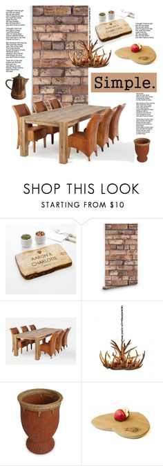 """""""Rustic Living"""" by cruzeirodotejo ❤ liked on Polyvore featuring interior, interiors, interior design, home, home decor, interior decorating, CO, NOVICA, .wireworks and rustic"""
