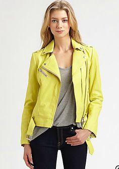 Yellow Leather jacket / Spring Fashion Fantasies / The English Room Blog