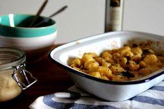 Gnocchi al Forno con Olio di Tartufo (Oven Baked Gnocchi with Truffle Oil)