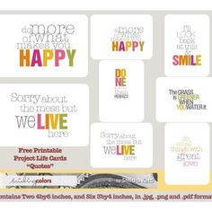 {Project Life: Week 12 + Free Printable Quotes} » Smiling Colors, blogged by Smitha Katti