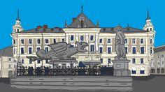 Klagenfurt, Lindwurm Klagenfurt, Louvre, Mansions, House Styles, Building, Travel, Decor, Graphics, Viajes
