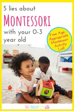 Montessori with your year old is the most rewarding way to way to raise a child. Montessori Education, Montessori Classroom, Montessori Toddler, Montessori Activities, Infant Activities, Toddler Preschool, Montessori Practical Life, List Of Activities, Education System