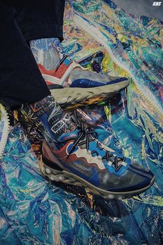 Undercover x Nike React Element Man Fashion, Nike Fashion, Sneakers Fashion, Sneakers N Stuff, Sneakers Nike, Sneaker Games, Street Look, Undercover, Sports Shoes