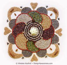 Sun Mandala, Flower Mandala, Tibetan Sand Mandala, Seed Craft, Ganpati Decoration Design, Organic Superfoods, Fruit Plate, Organic Living, Diwali Decorations