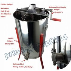 Does not apply, 2 Frame Honey Extractor 304 Stainless Steel Honey Extractor, Best Honey, Look Good Feel Good, How To Apply, Stainless Steel, Diving, Coloring Books, Sweatshirt Dress, Bee Keeping