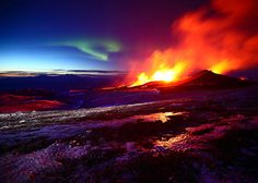 Iceland Volcano Meets Aurora Borealis. Something Awesome Happens