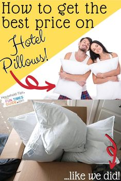 We bought 4 down pillows from Hilton Hotels (part of the Hampton Inn hotel chain) and we LOVE them! See where to buy Hampton Inn pillows... or ANY hotel pillows / hotel bedding for the best price. #luxuryhomedecor #bedding #springcleaning #travel