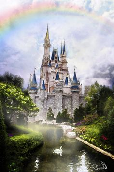 cinderella castle painting | Cinderella Castle Painting | Flickr - Photo Sharing!
