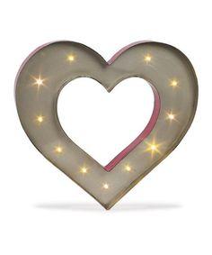 Love this Lighted Heart Sign on #zulily! #zulilyfinds