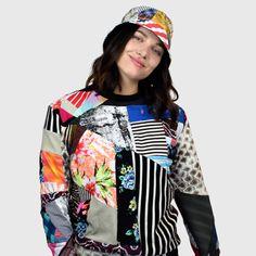 shop — zero waste daniel Sustainable Clothing, Sustainable Fashion, Slow Fashion, Ethical Fashion, Eco Friendly Fashion, Mixing Prints, Zero Waste, Crew Neck Sweatshirt, Adidas Jacket