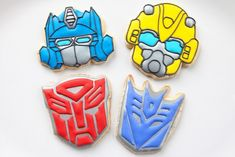 bakedhappy_transformersWEB Apple Birthday, Tea Party Birthday, Circus Birthday, Halloween Birthday, Birthday Cookies, 4th Birthday Parties, Boy Birthday, Birthday Ideas, Transformers 5