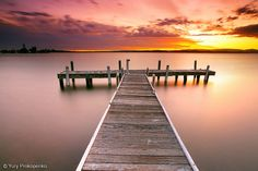 An poster sized print, approx (other products available) - Pier in Lake Macquarie at sunset, Belmont, NSW, Australia. - Image supplied by Australian Views - poster sized print mm) made in Australia Sunrise Painting, Relax, Sunset Art, Pink Sunset, Pink Sky, Sunset Pictures, Ciel, Poster Size Prints, Fine Art America
