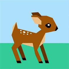 (7) Name: 'Quilting : Woodland Deer Paper Pieced Pattern