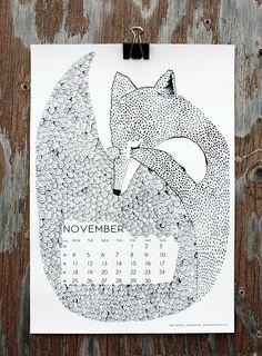 """Daydreaming"" by Teija Vartiainen, for November in calendar 13."