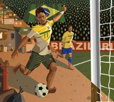 Editorial Illustration 1 (Academy of Art) by John Gomes, via Behance